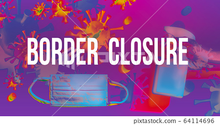 Border Closure Theme with face mask and spray bottle 64114696