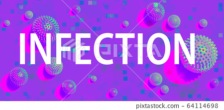 Infection theme with viral objects 64114698