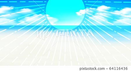 海夏天海灘背景 64116436