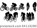 Sport silhouette bicycle 64119280