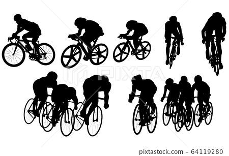 스포츠 실루엣 자전거 64119280