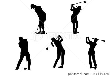 運動剪影高爾夫 64119320