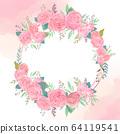 원형 꽃 프레임 64119541