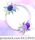 원형 꽃 프레임 64119542