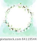 원형 꽃 프레임 64119544