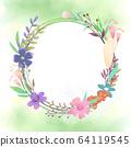 원형 꽃 프레임 64119545