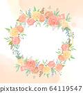 원형 꽃 프레임 64119547