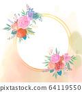 원형 꽃 프레임 64119550