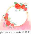 원형 꽃 프레임 64119551