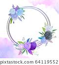 원형 꽃 프레임 64119552