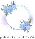 원형 꽃 프레임 64119554