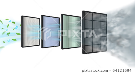 The new Multi-layer air filter efficiency technology consists of multiple filter layers. Coarse fibers, carbon layers, HEPA filter, fabric layers, air purification layer, protecting against PM2.5. 64121694