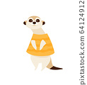 Cartoon character meerkat vector 64124912