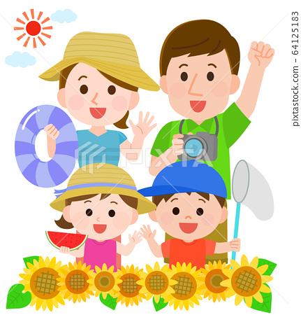 暑假家庭家人 64125183