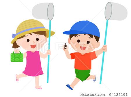 暑假,摘蟲,做愛,孩子 64125191