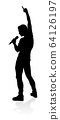 Singer Pop Country or Rock Star Silhouette 64126197