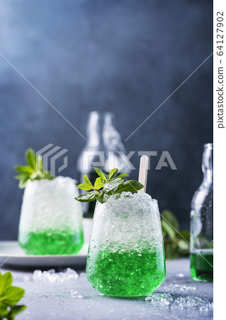 Summer cocktail with mint 64127902