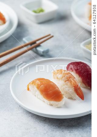 Mix of Traditional Japanese sushi 64127938