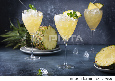 cocktail with pineapple 64127956
