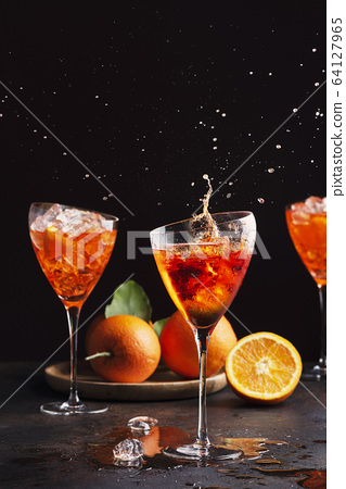 Italian aperol cocktail 64127965