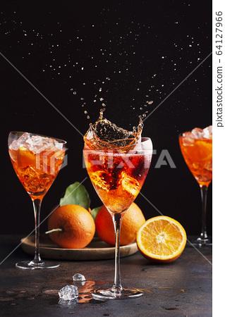 Italian aperol cocktail 64127966