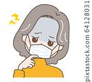 頭痛的中年婦女 64128031