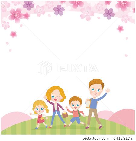 遠足 家人 家庭 64128175