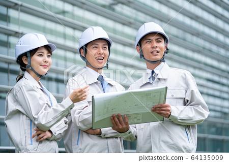 工人,總承包商,建築 64135009