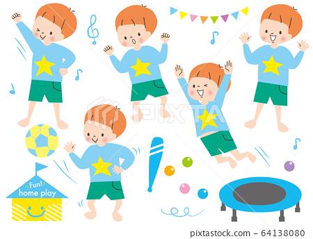 性格開朗的男孩玩集Ritmic 64138080