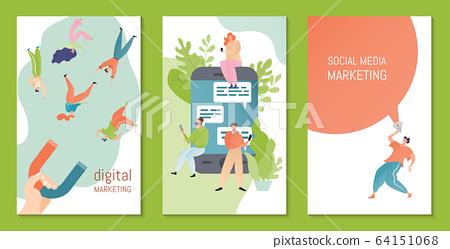 social media digital marketing vector stock illustration 64151068 pixta pixta