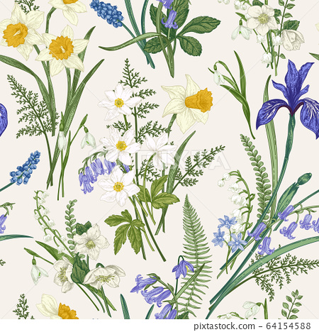 Vintage seamless floral pattern. 64154588