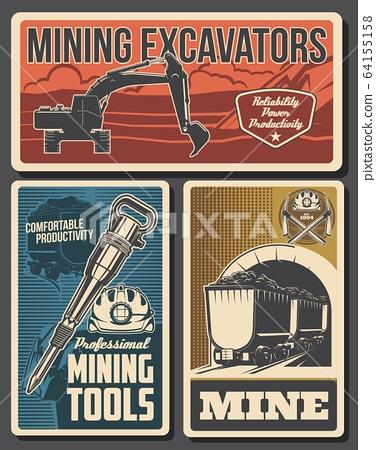 Coal mining equipment, miner tools, mine industry 64155158