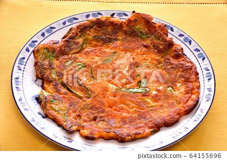 大白菜泡菜和韭菜的中國風格形象 64155696