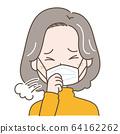 中年婦女咳嗽 64162262