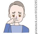 流鼻水的中年男子 64162265