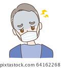 頭痛的中年男子 64162268