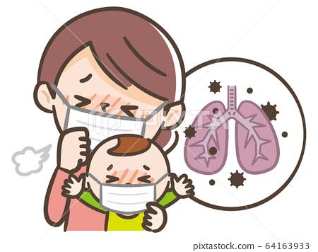 Pneumonia parent and child 64163933