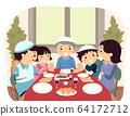 Family Jewish Passover Dinner Illustration 64172712