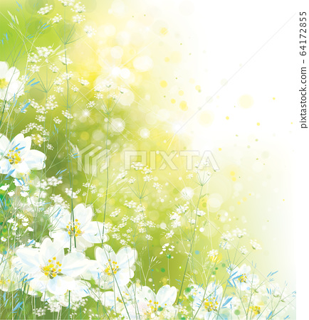 Vector  floral background. Nature background. 64172855