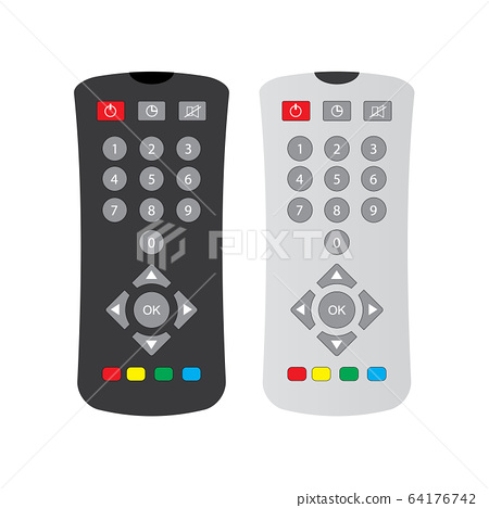 black and gray remote control with buttons 64176742