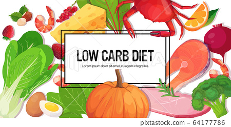 healthy food keto diet concept selection of good fat sources low carbs products composition template 64177786