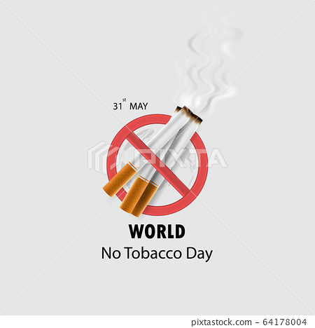 World No Tobacco Day infographic background 64178004