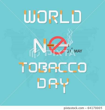 World No Tobacco Day infographic background 64178005