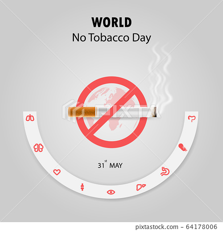 World No Tobacco Day infographic background 64178006