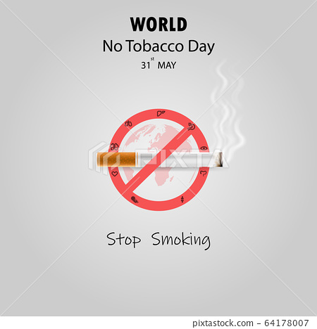 World No Tobacco Day infographic background 64178007