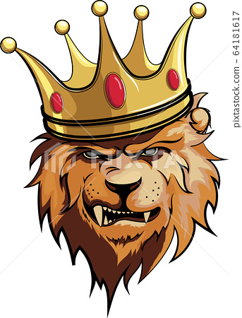 Lion King With Crown Vector Illustration 1 Stock Illustration 64181617 Pixta King lion crown looking side retro ~ illustrations. https www pixtastock com illustration 64181617