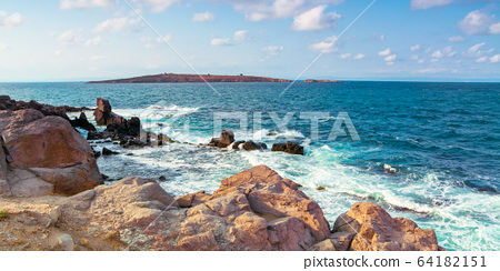 seascape with rocks and cliffs. beautiful scenery 64182151