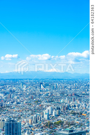 도시 풍경 선샤인 시티 60 전망대에서 본 관동 평야 【도쿄】 64182363