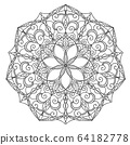 Mandala design, meditation ornament. colouring 64182778