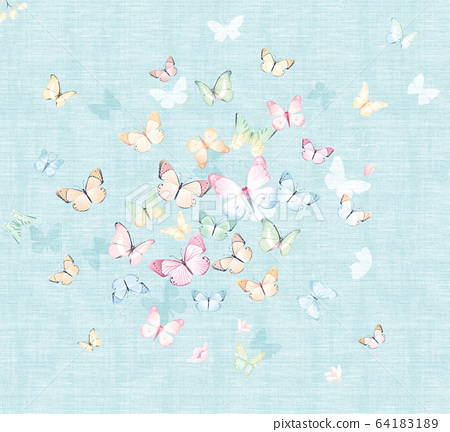 色彩豐富的花卉素材組合和設計元素 64183189